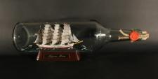 Nippon Maru Japan runde Rumflasche 0, 7 Liter Buddelschiff Museumsqualität
