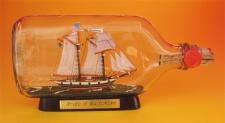 Pride of Baltimore Buddelschiff Flachmann 0, 375 Liter ca. 21x9 cm Buddelschif...