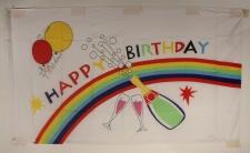 Happy Birthday Flagge Großformat 250 x 150 cm wetterfest