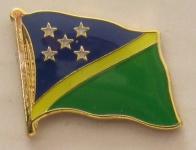Salomonen Pin Anstecker Flagge Fahne Nationalflagge