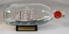 Belem Frankreich runde Flasche 0, 3 Liter Buddelschiff Flaschenschiff