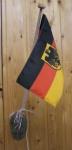 Stockflaggen Wandhalterung verchromt 1-fach
