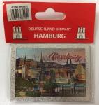 Magnet silber Metall geprägt Hamburg Wahrzeichen Souvenir Mitbringsel Geschen...