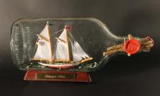 Schoner Lisa Buddelschiff Flachmann 0, 375 Liter ca. 21x9 cm