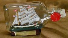 Eagle USA Coastguard Buddelschiff Flachmann 0, 1 Liter ca. 13x7 cm Buddelschif...