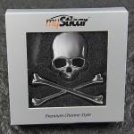 "Qualitäts 3D Autoaufkleber "" Totenkopf"" Metall verchromt Emblem Silber Sticker..."