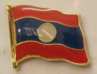 Laos Pin Anstecker Flagge Fahne Nationalflagge