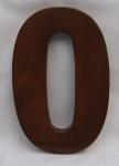 "Hausnummer Ziffer "" 0"" aus lackiertem Massivholz, ca. 16 cm"