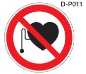 Aluminium Verbotsschild D-P011 Verbot für Personen mit Herzschrittmacher 200 ...