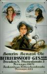Blechschild Nostalgieschild Betriebsstoff Gesellschaft Dresden Benzin Benzol Öle