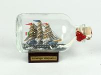 Amerigo Vespucci Mini Buddelschiff 50 ml ca. 7, 2 x 4, 5 cm Flaschenschiff