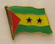 Sao Tome Pin Anstecker Flagge Fahne Nationalflagge