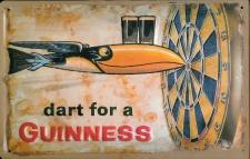 Blechschild Guinness Bier Dart for a Guinness Bier Toucan Vogel Dartscheibe n...