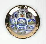 Wandteller Iris-Teller Hamburg 8 Motive Souvenir Teller mit Wandaufhängung