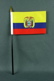 Kleine Tischflagge Ecuador 10x15 cm optional mit Tischfähnchenständer - Vorschau 2