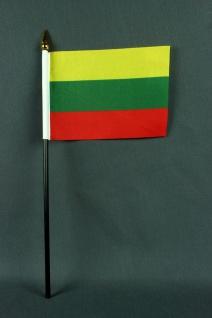 Kleine Tischflagge Litauen 10x15 cm optional mit Tischfähnchenständer - Vorschau 2