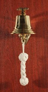 Glocke 100 mm massiv Messing Schiffsglocke mit Bändsel und Wandhalter - Vorschau 5