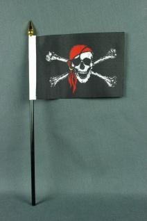 Kleine Tischflagge Pirat Piratenflagge 10x15 cm optional mit Tischfähnchenstä... - Vorschau 2