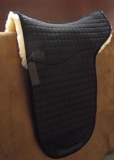 Luxus echt Lammfell Satteldecke für Stocksattel und Dressur Lammfellsatteldecke