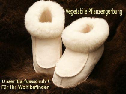 Pflanzlich gegerbte Lammfellschuhe Hausschuhe Pantoffeln Bettschuhe Puschen - Pelzvelour von FÖRSTER-FELL Lammfell