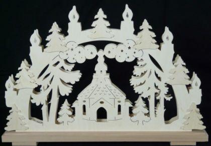 Schwibbogen Kirche Seiffen - Vorschau