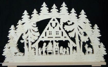 Schwibbogen Waldhaus mit Bäumen - Vorschau