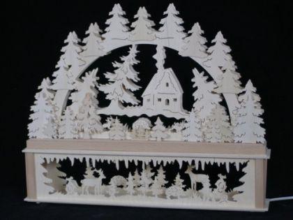 Schwibbogen Haus im Wald