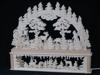 Schwibbogen Rehe im Wald - Vorschau