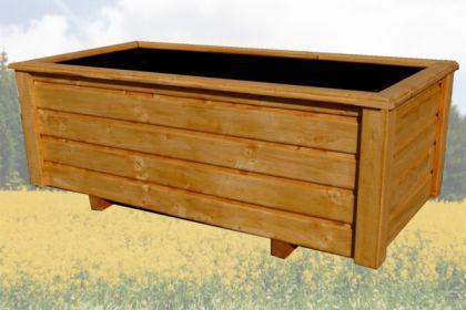 Massiver Holz Pflanzkasten Maße 80x56x36 cm inkl. Kunststoffeinsatz CLASSIV lasiert nach Wunsch SchwibboLa