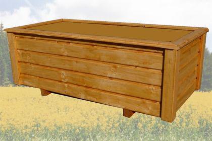 Massiver Holz Pflanzkasten CLASSIV Maße 160x40x40 cm lasiert nach Wunsch SchwibboLa