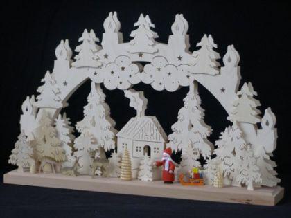 Schwibbogen Weihnachtsmann mit Schlitten - Vorschau