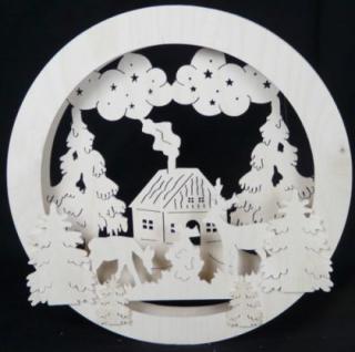 Doppeltes Fensterbild Waldtiere