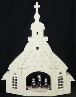 Doppeltes Fensterbild Kirche zu Seiffen