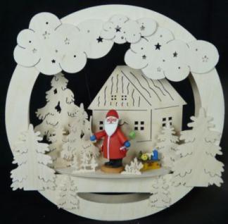 Doppeltes Fensterbild Weihnachtsmann