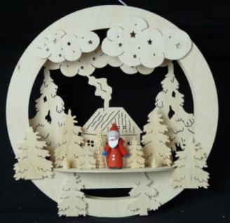 Doppeltes Fensterbild Weihnachten