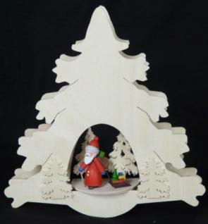 Doppeltes Fensterbild Weihnachtemann im Wald