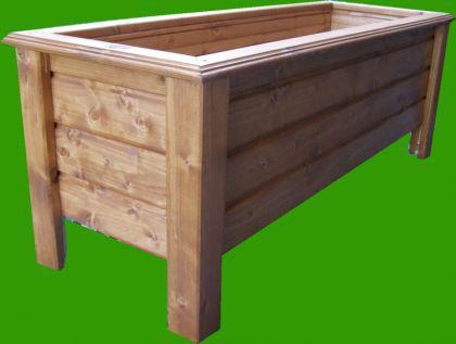 Holz Pflanzkasten Maße 110x40x40 cm Blumenkasten CLASSIC lasiert nach Wunsch SchwibboLa