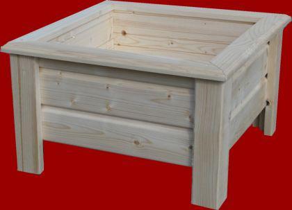 Holz Pflanzkasten Maße 60x60x30 cm CLASSIC imprägniert SchwibboLa