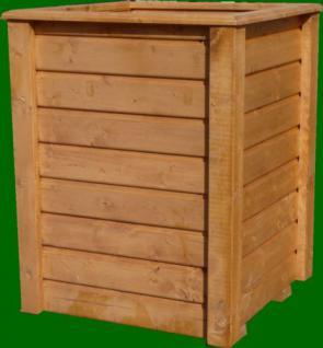 Massiver Holz Pflanzkasten CLASSIV Maße 50x50x80 cm lasiert nach Wunsch SchwibboLa