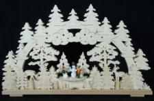 Schwibbogen Schneemann bauen