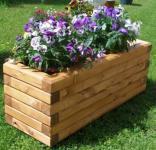 Massiver Holz Pflanzkasten Maße 120x40x40 cm lasiert SchwibboLa