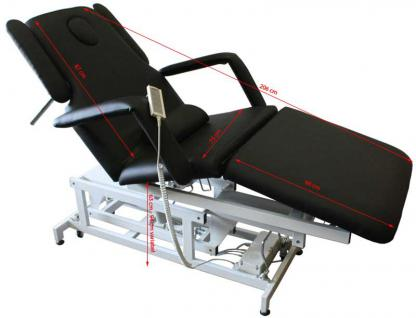 1600 elektrische Behandlungsliege 3-teilig schwarz - Vorschau 2