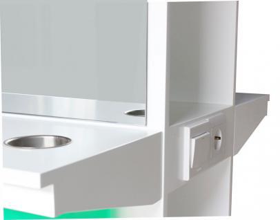2027 Spiegel AOSTA doppelseitig mit LED, Schleiflack weiss - Vorschau 2