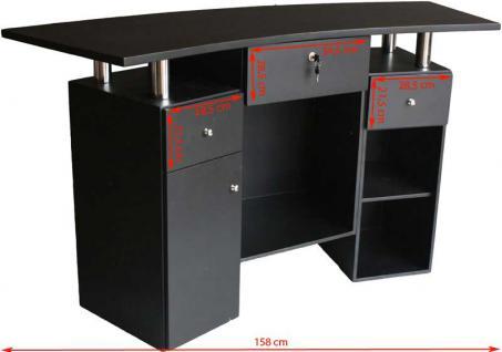 1465 Rezeption Laminat schwarz-schwarz - Vorschau 3