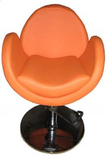 EINZELSTÜCK 1159 Friseurstuhl Figaro TORINO orange B1 0008
