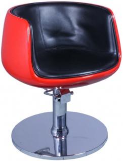 EINZELSTÜCK 1895 Friseurstuhl PALIANO Rahmen rot, PVC schwarz B1 0958