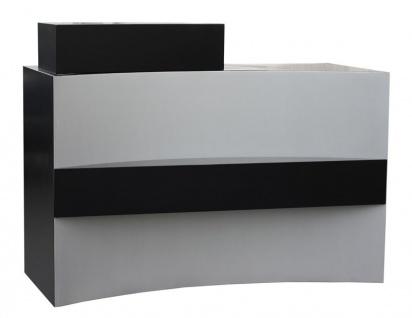 2036 Rezeption FRASCATI Schleiflack schwarz-silber