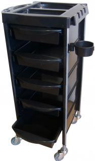 1963 Boy schwarz, Kunststoff Seiten, Farbschale, 5 Schübe, Fönhalter - Vorschau 1