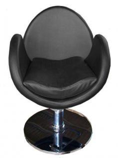1159 Frisierstuhl TORINO schwarz - Vorschau 1
