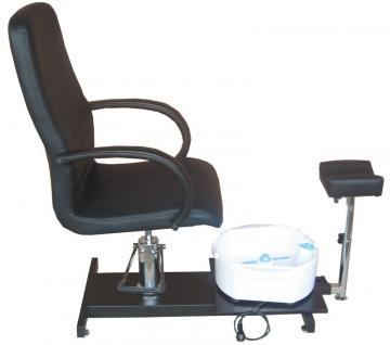 EINZELSTÜCK 1137 Fußpflegestuhl schwarz mit Becken B1 0578